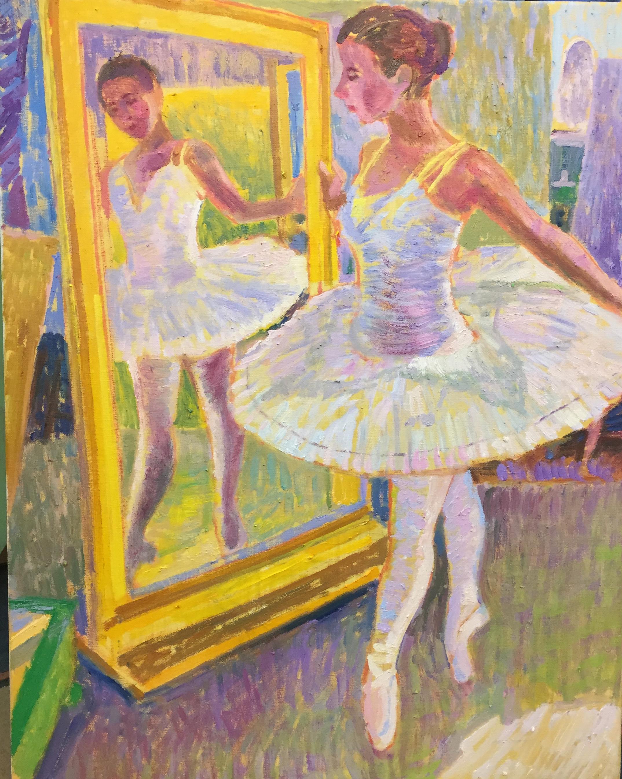Ballerina  | 22 x 28 |  Oil on canvas