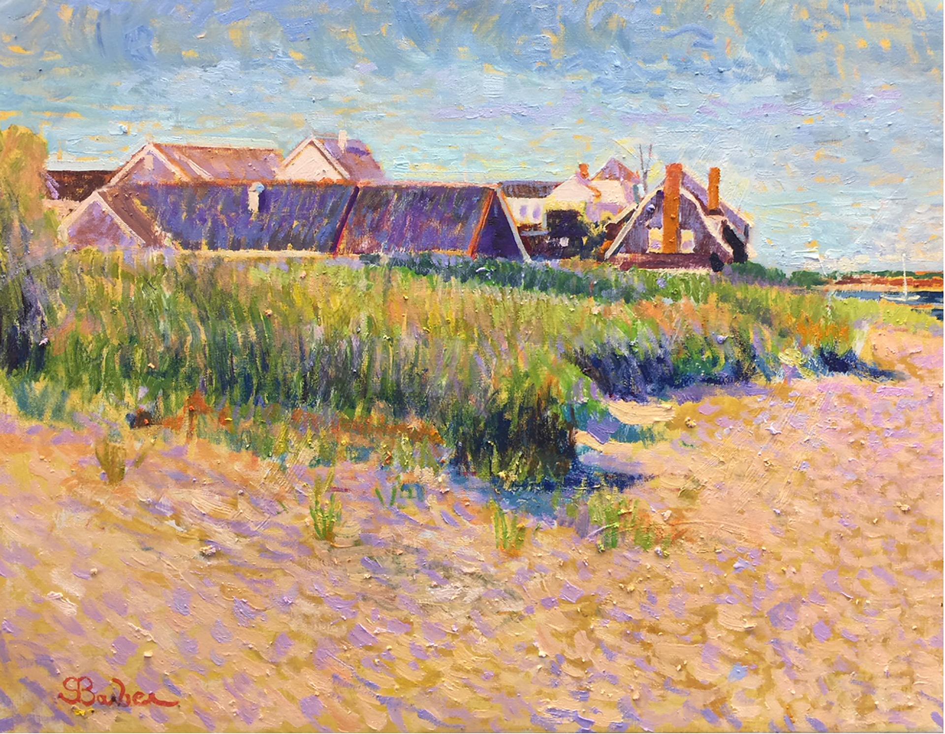 Beach Club, Hyannis Port  |  20 x 26  | Oil on canvas