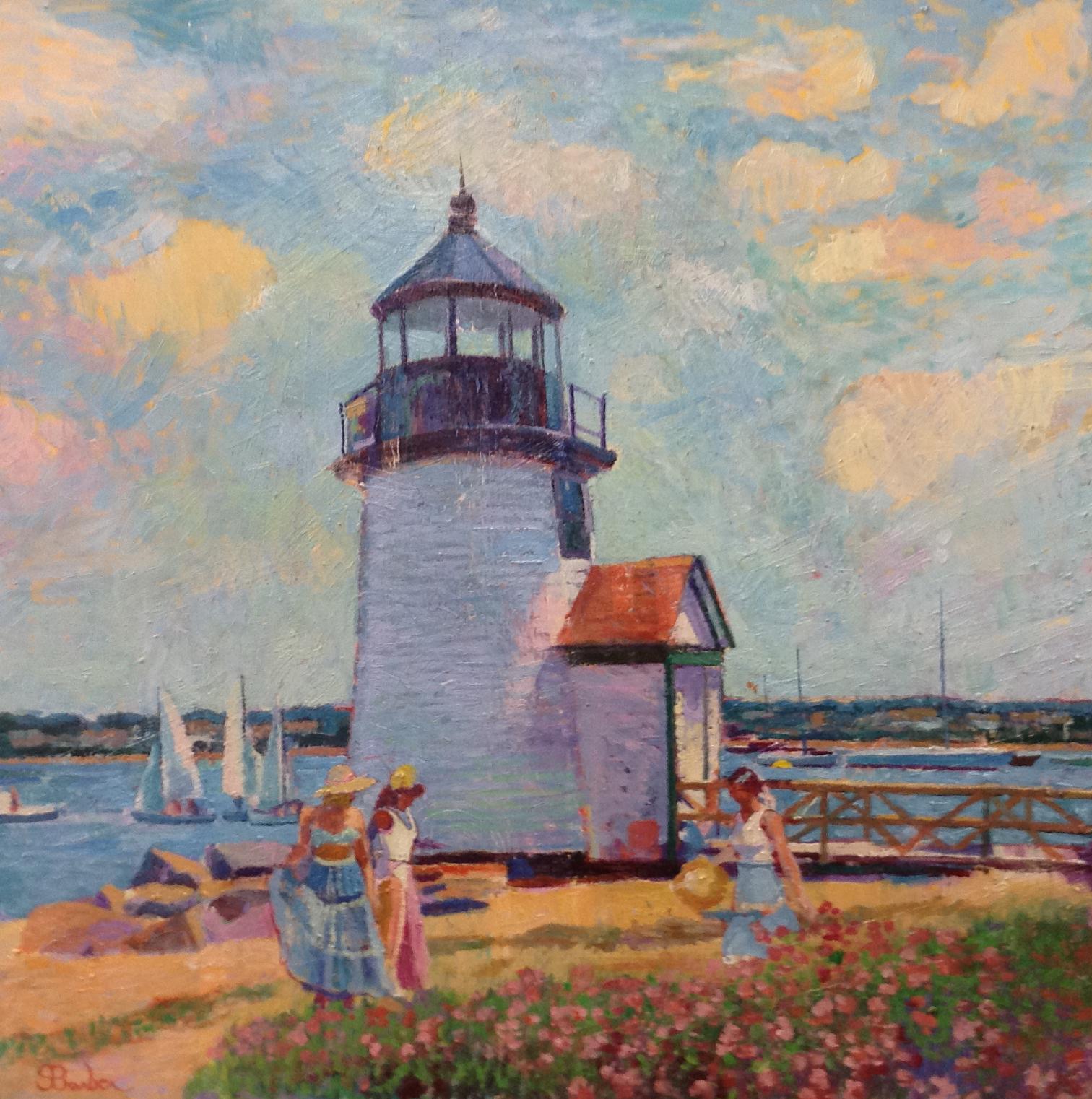 Brant Point Lighthouse  | 20 x 26  | Oil on canvas