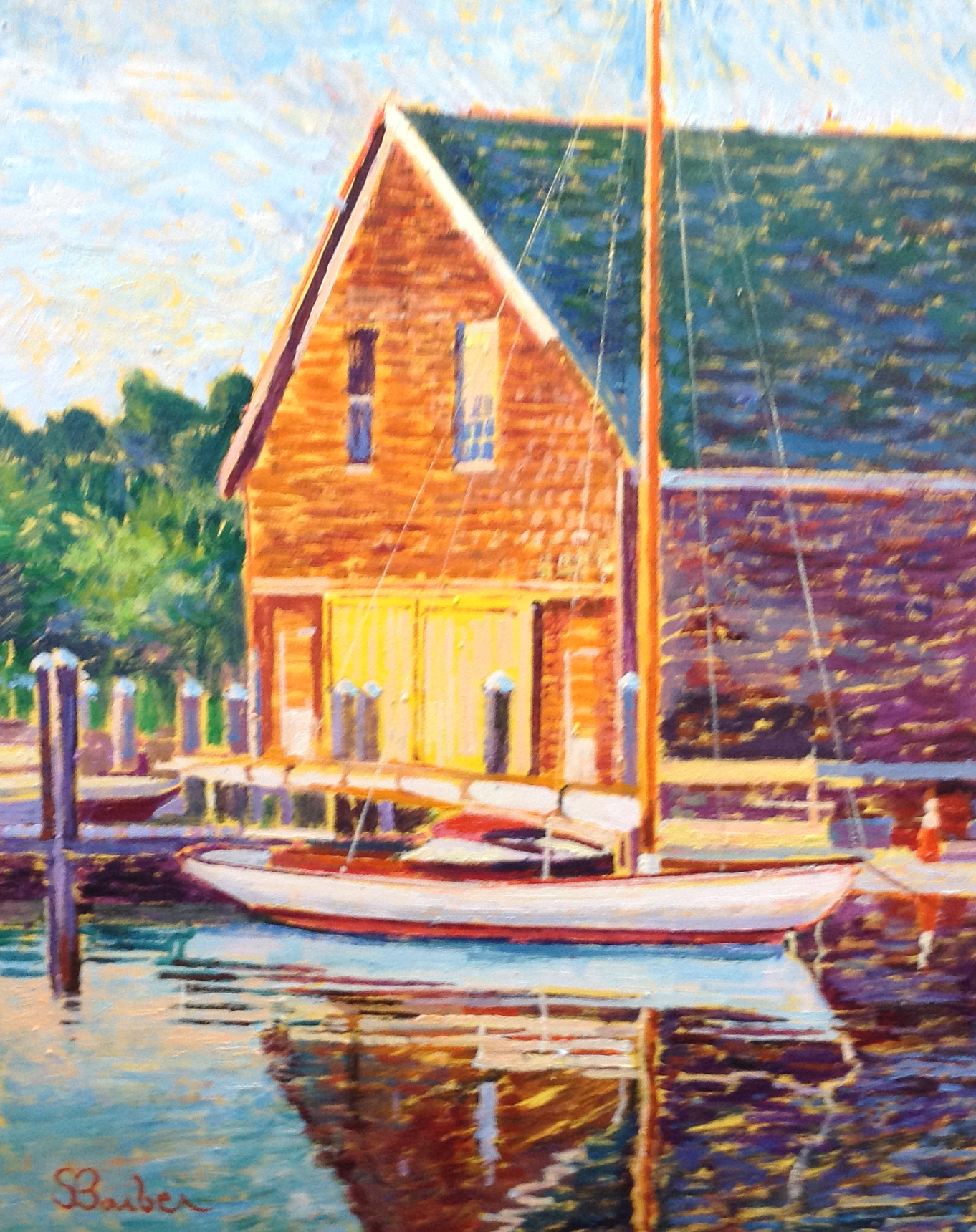 Crosbys Yacht Yard  | 24 x 30  | Oil on canvas