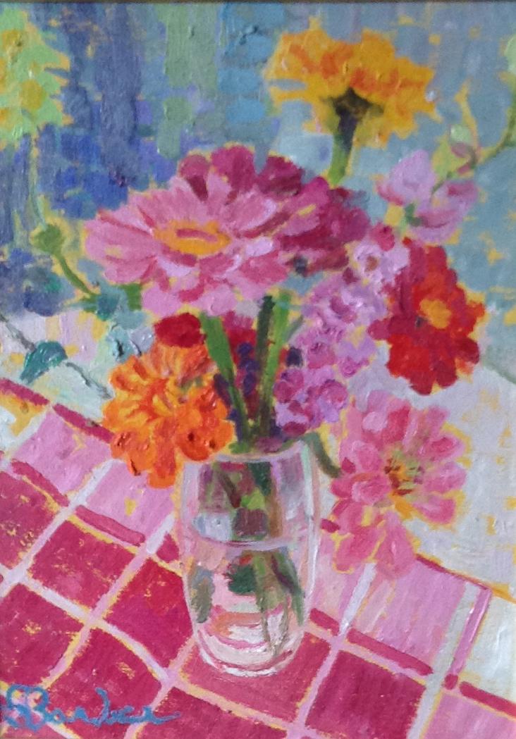 Dahlias    9 x 12    Oil on canvas