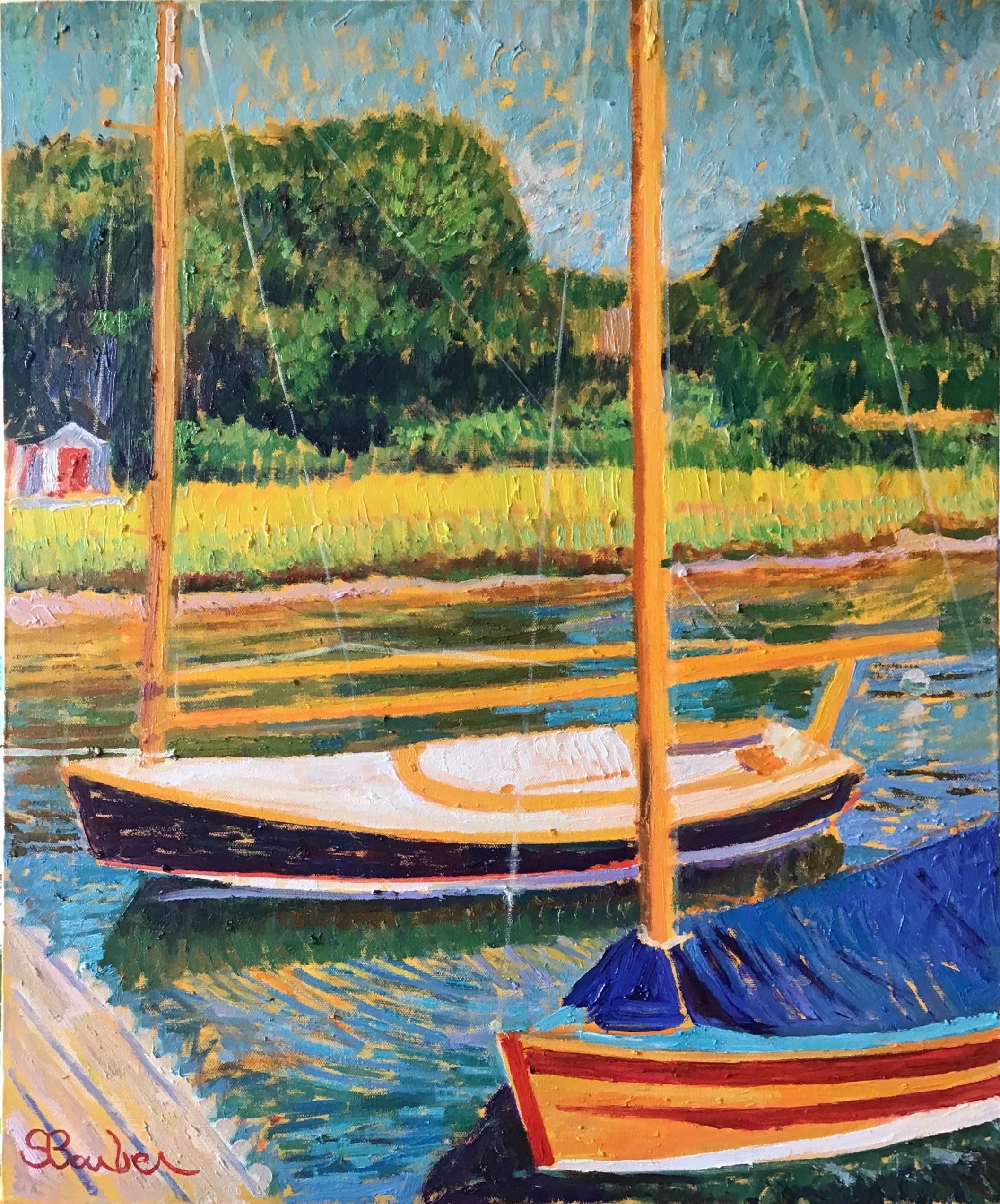 Day Sailor at Cotuit Harbor