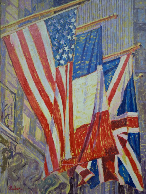 Flags on Fifth Ave |  30 x 40   | Oil on canvas