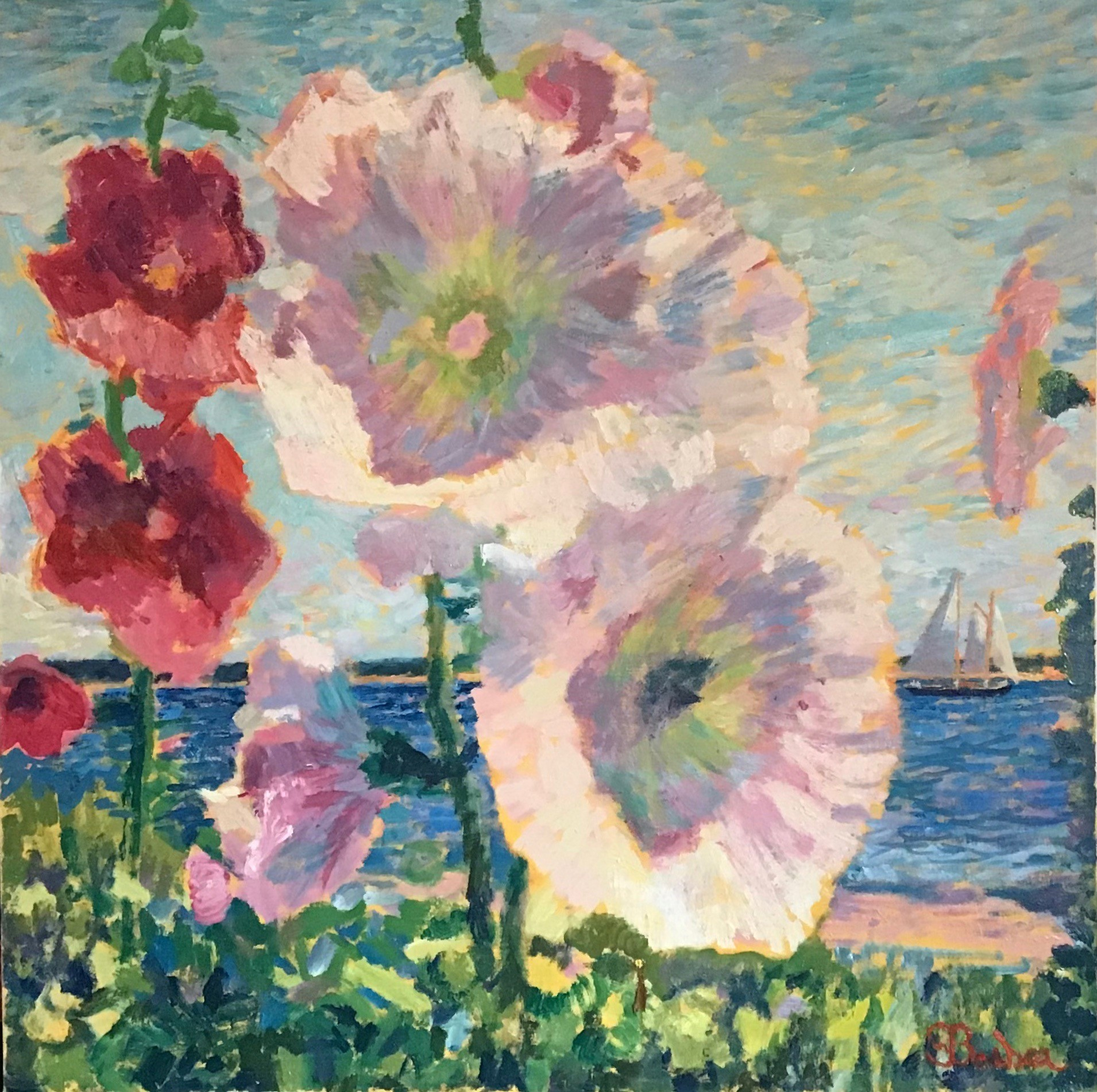 Hollyhocks in Hyannis Port