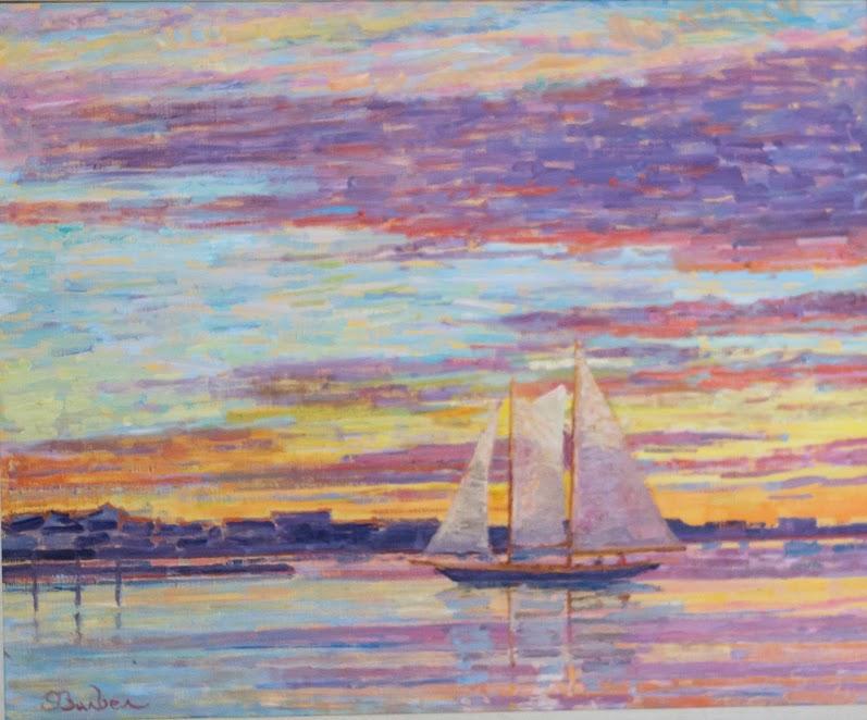 Mya at sunset  |  26 x 32  |  Oil on canvas