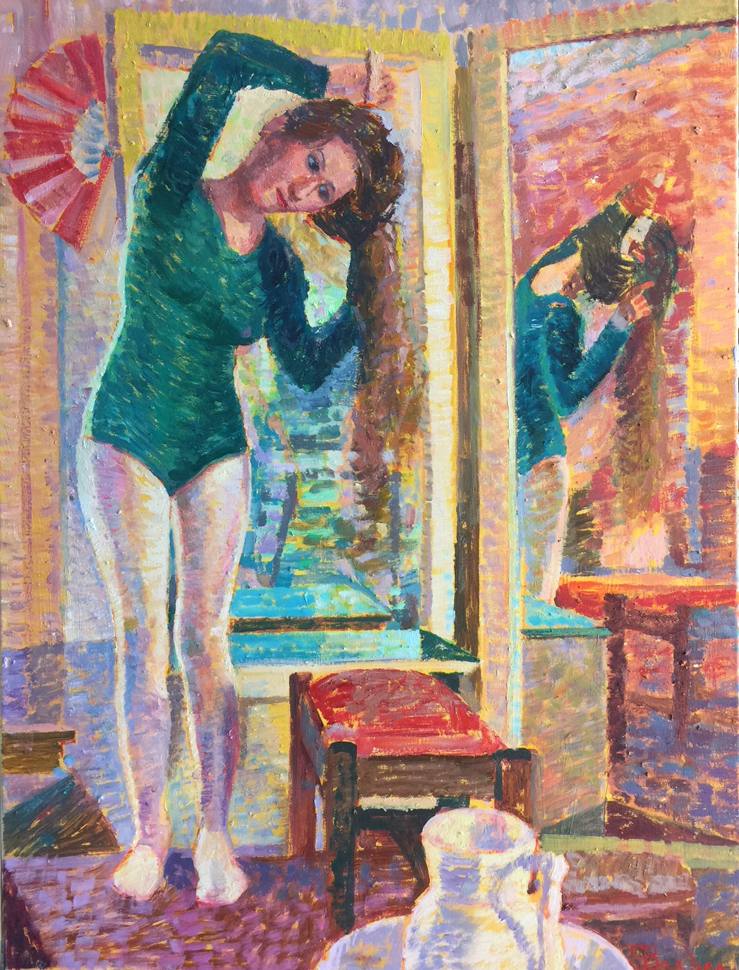 Model by the Mirror | 30 x 40  | Oil on canvas