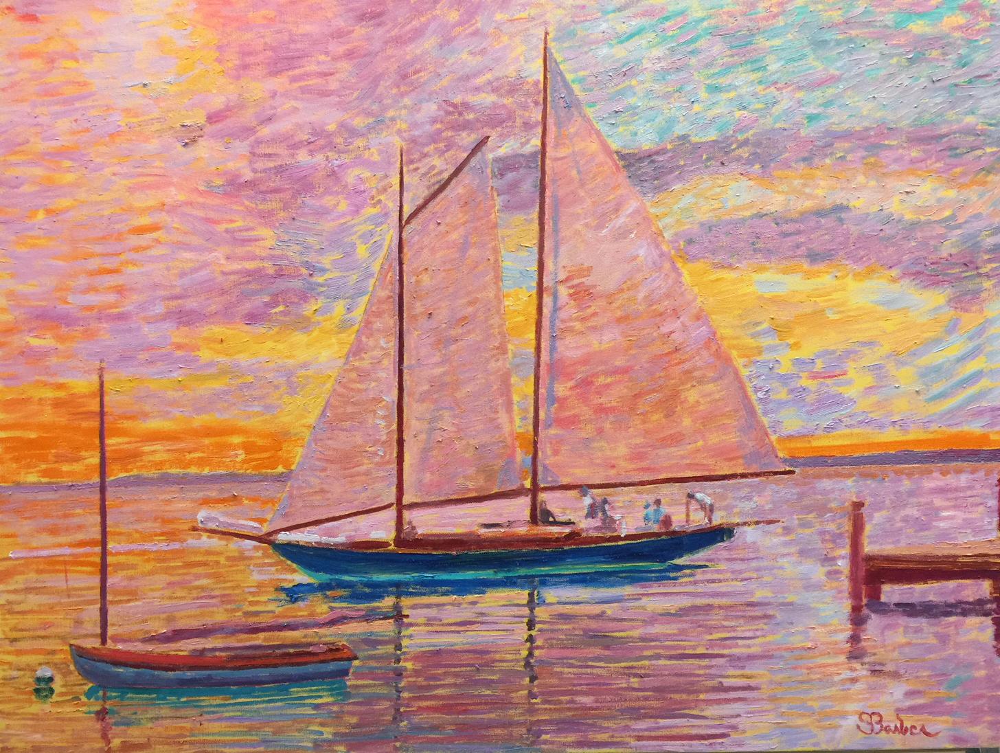 Mya at Sunset |  30 x 40  |  Oil on canvas