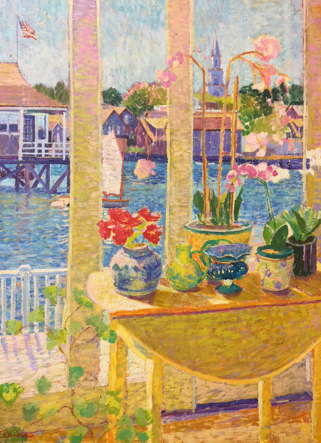 Nantucket Window | 36 x 48  | Oil on canvas