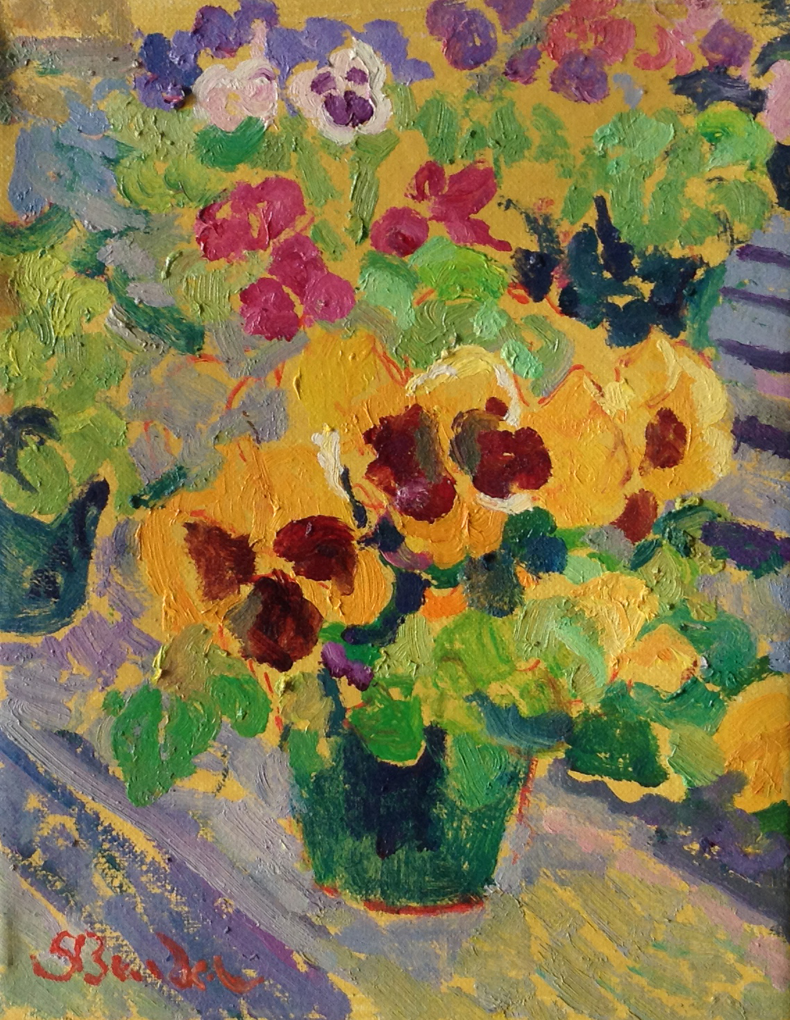 Pansies  | 8 x 10 |  Oil on canvas