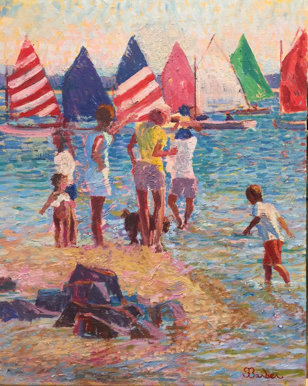Rainbow Fleet, Nantucket  | 24 x 30  | Oil on canvas