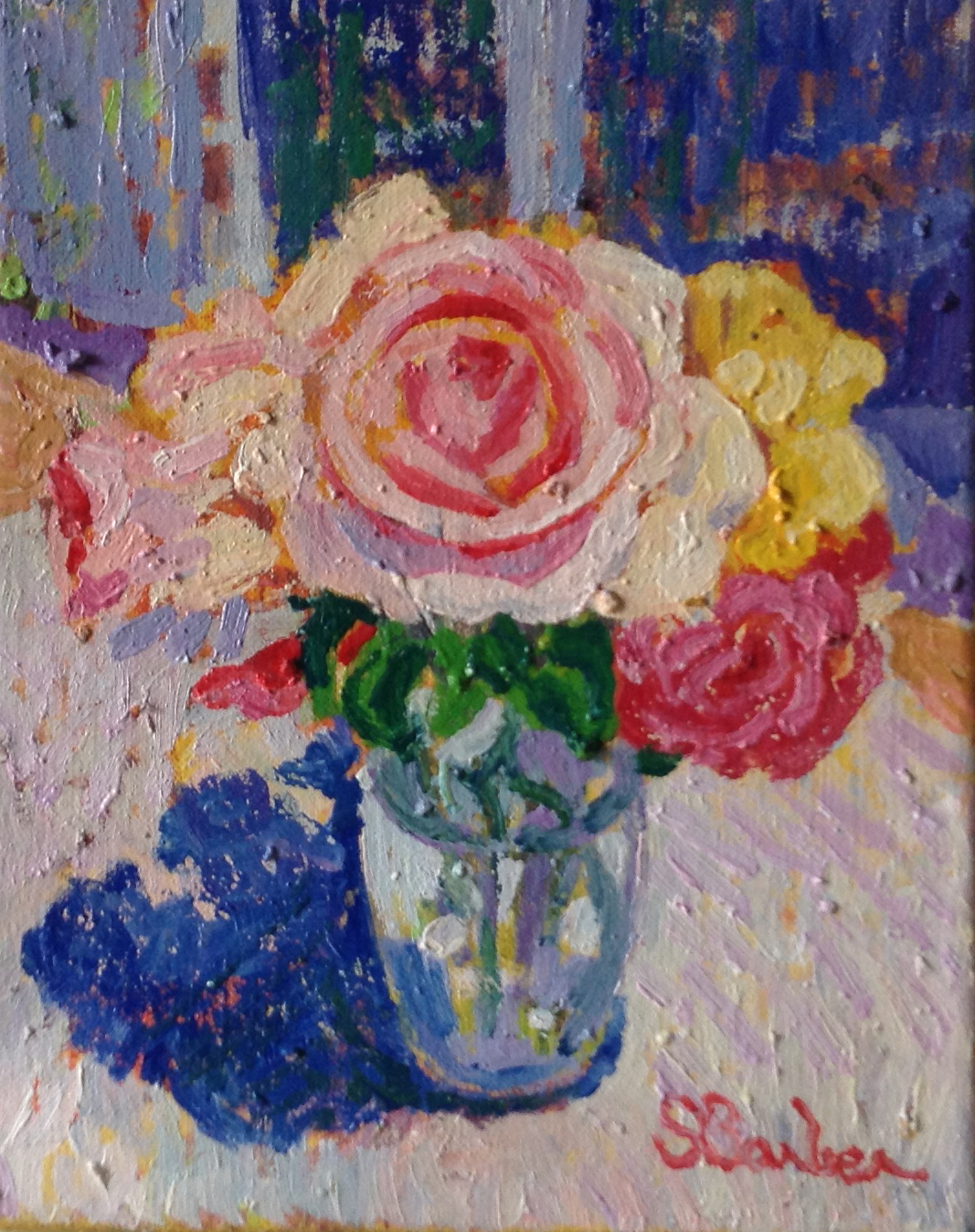 Rose Bouquet  | 8 x 10  | Oil on canvas