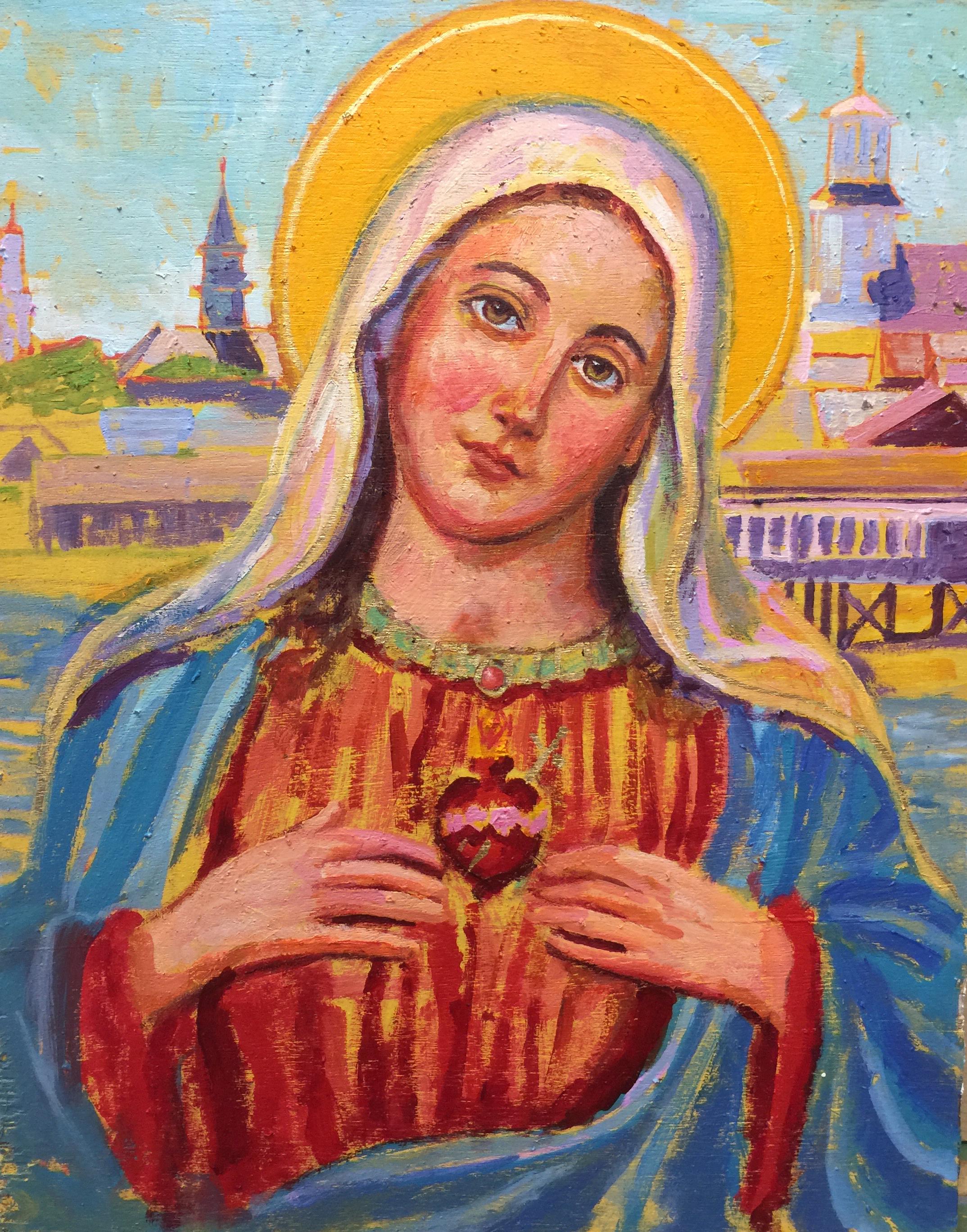 Saint Mary of the Harbor  | 16 x 20 |  Oil on canvas