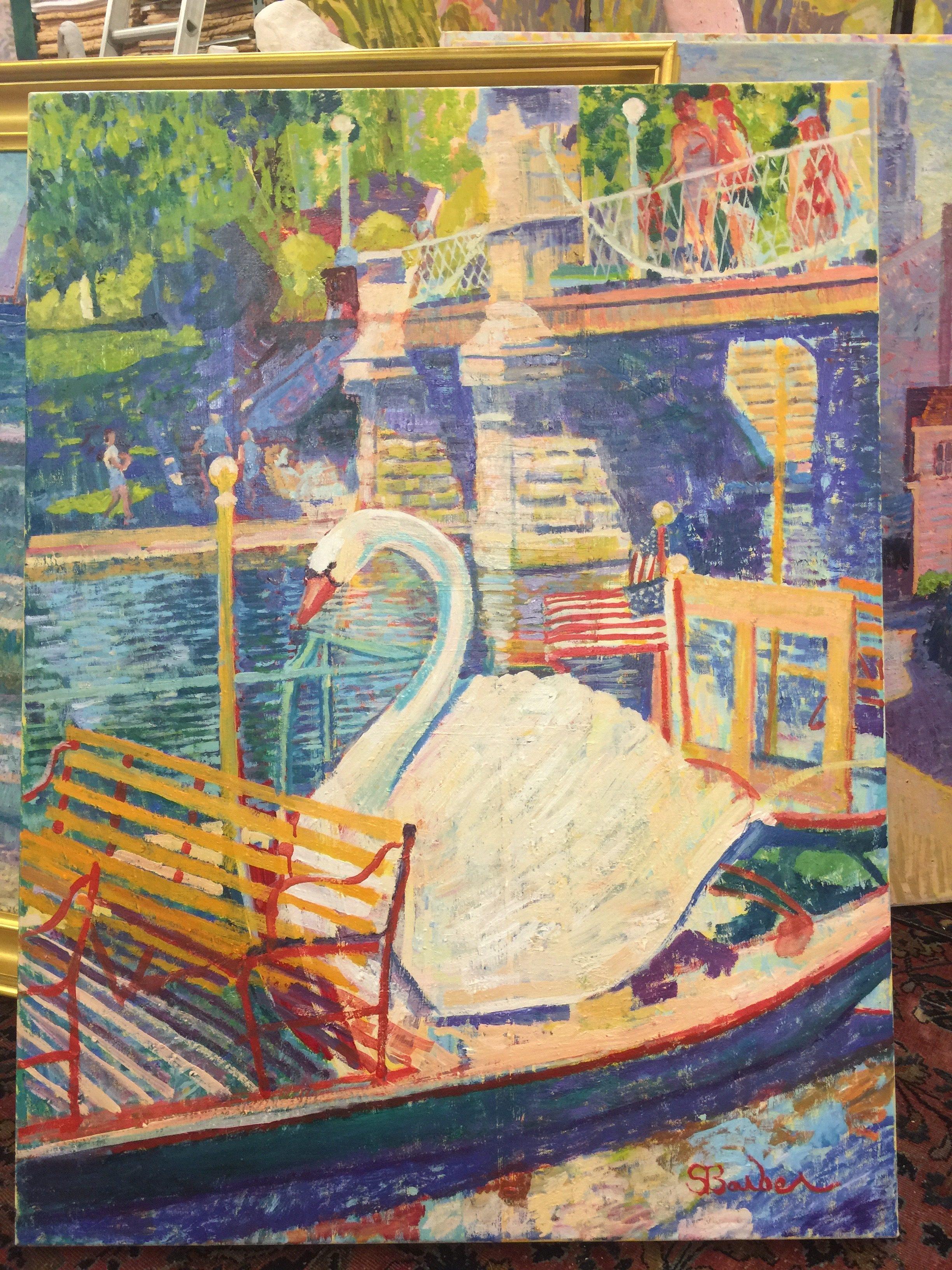Swan Boat Boston  | 30 x 40  | Oil on canvas
