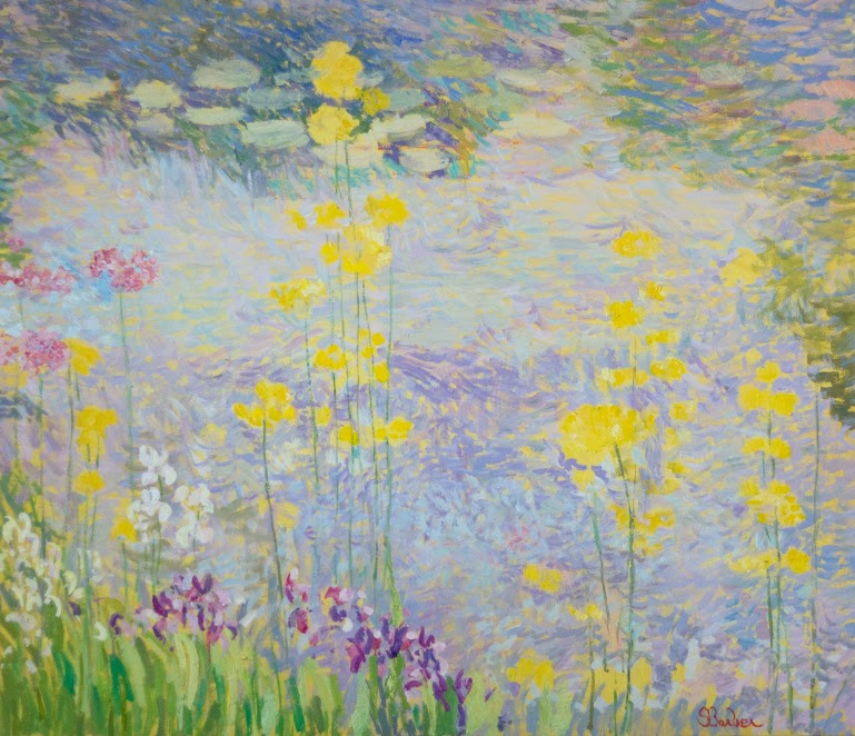 Waterlilies and Yellow Primrose