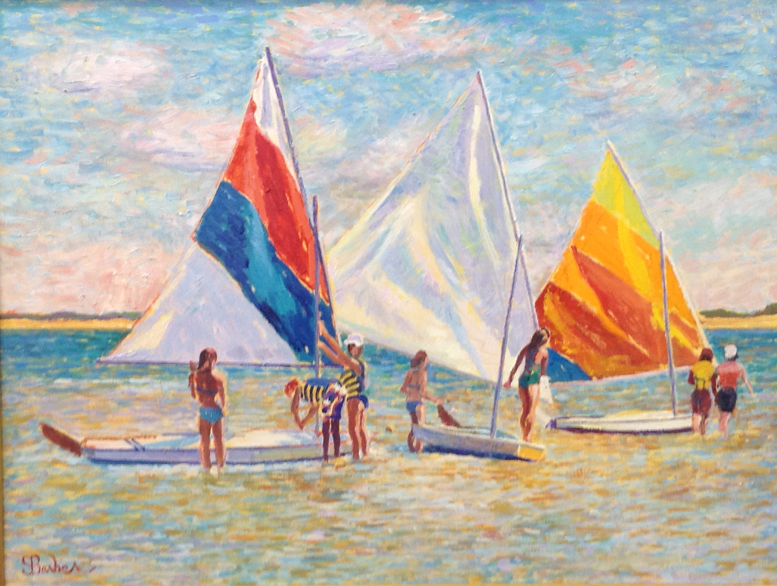 West End Sailing Club  | 30 x 40 |  Oil on canvas