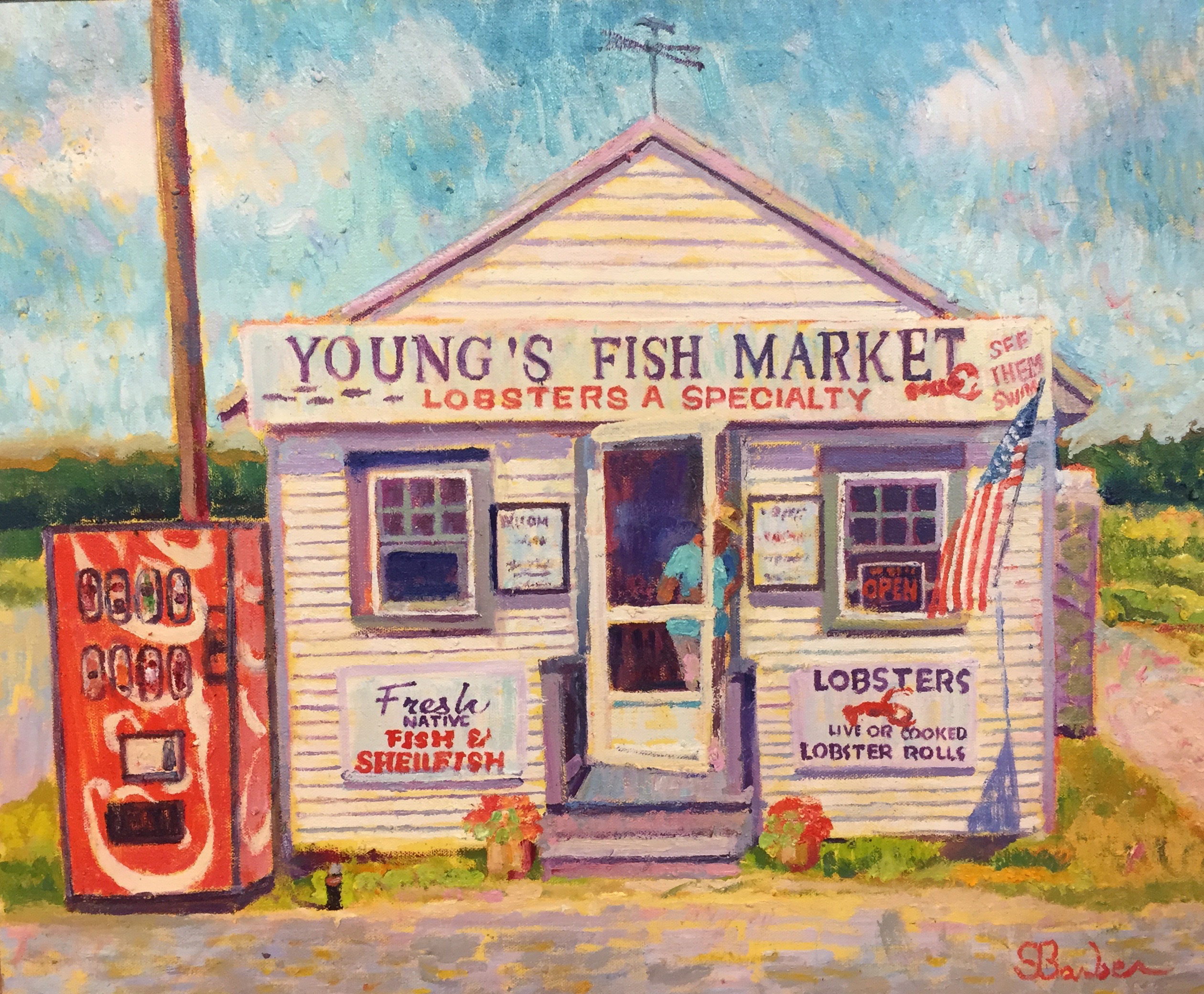 Youngs Fish Market | 20 x 24 | Oil on canvas