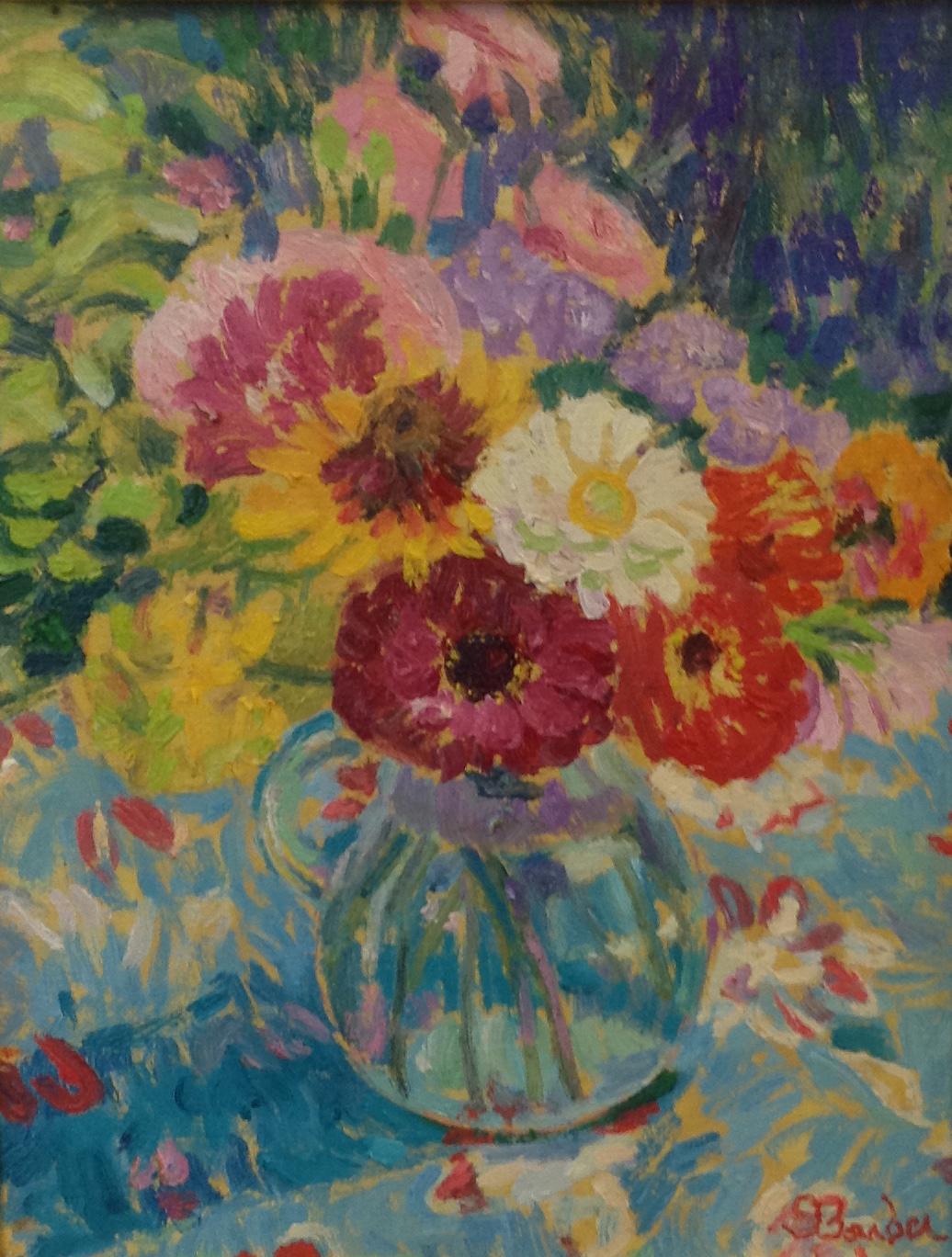 Zinnias    11 x 14    Oil on canvas