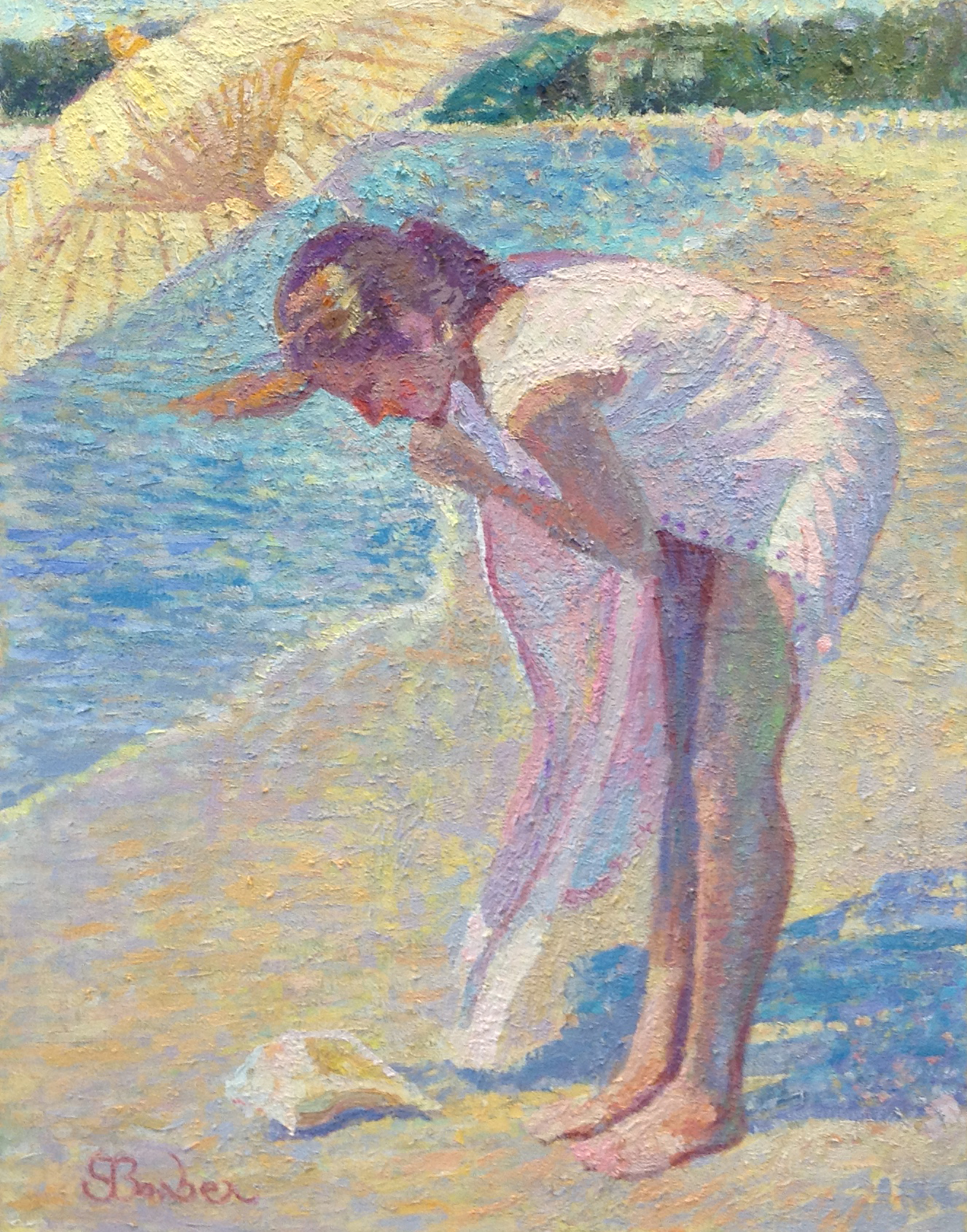 Katherine by the Sea  | 22 x 28 |  Oil on canvas